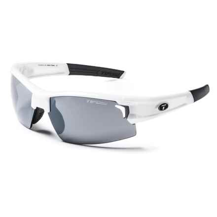 Tifosi Escalate H.S. Sunglasses - Interchangeable Lenses in Pearl White/Smoke-Ac Red-Clear - Closeouts