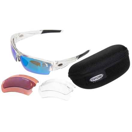 Tifosi Lore Sunglasses - Extra Lenses in Crystal Clear/Clarion Blue-Ac Red-Clear - Closeouts