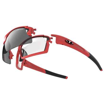 Tifosi Pro Escalate F.H. Sunglasses Kit - Interchangeable Lenses in Metallic Red/Smoke-Ac Red-Clear - Closeouts