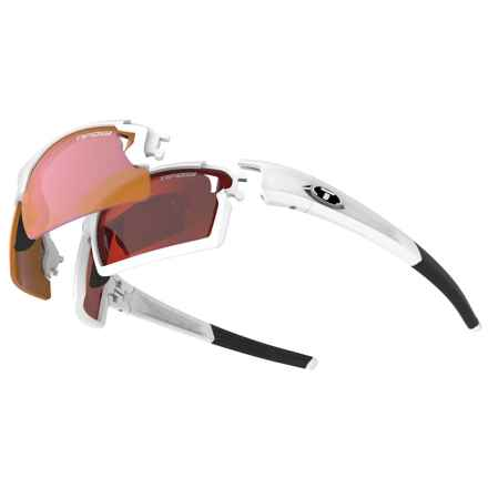 Tifosi Pro Escalate F.H. Sunglasses Kit - Mirrored, Interchangeable Lenses in Matte White/Clarion Red-Ac Red-Clear - Closeouts