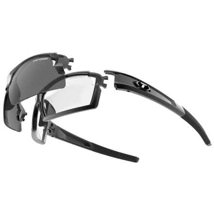 Tifosi Pro Escalate F.H. Sunglasses Kit - Polarized, Interchangeable Lenses in Gloss Black/Smoke-Ac Red-Clear - Closeouts
