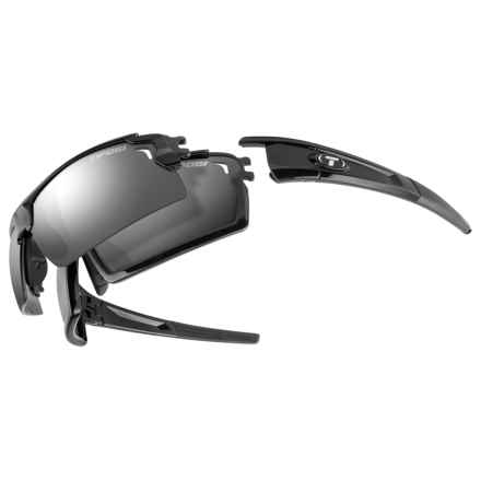 Tifosi Pro Launch H.S. Sunglasses - Interchangeable Fototec Lenses in Gloss Black/Light Night-High Speed Red-Smoke - Closeouts