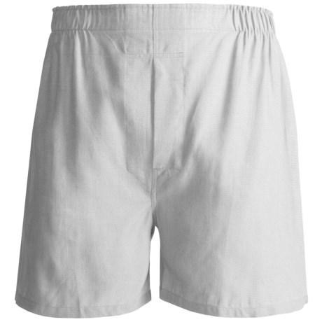 Tiger Mountain Boxers - Combed Cotton (For Men) in White Pinpoint