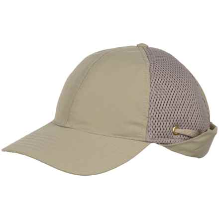 Tilley Airflo Sun-Protective Baseball Cap with Neck Cape (For Men) in Khaki - Closeouts