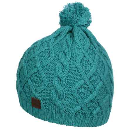 Tilley Cable Toque Hat (For Girls) in Aqua - Closeouts