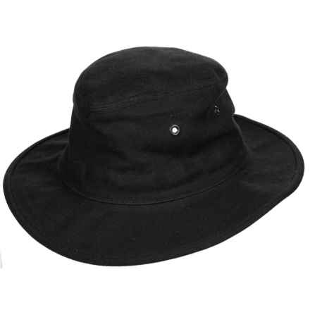 Tilley Dakota Hat - Waxed Cotton (For Men and Women) in Black - Closeouts