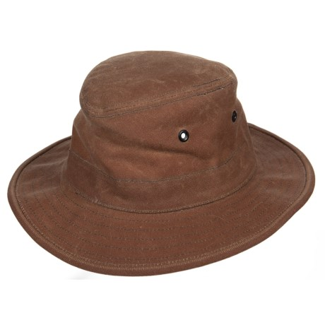 Tilley Dakota Hat - Waxed Cotton (For Men and Women) in Brown