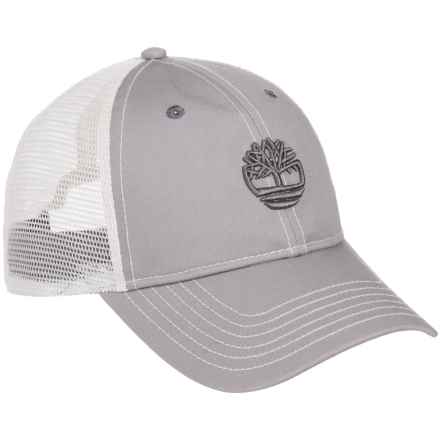 Timberland 6-Panel Trucker Hat (For Men) in Light Grey - Closeouts
