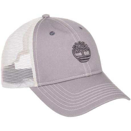 Timberland 6-Panel Trucker Hat (For Men) in Light Grey