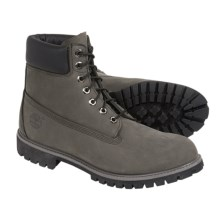 """Timberland 6"""" Premium Leather Boots (For Men) in Grey - Closeouts"""