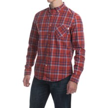 Timberland Allendale River Plaid Poplin Shirt - Long Sleeve (For Men) in Red Ochre - Closeouts