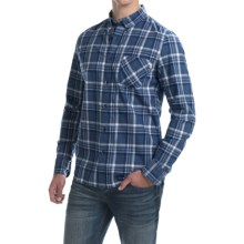 Timberland Allendale River Plaid Poplin Shirt - Long Sleeve (For Men) in Vintage Indigo - Closeouts