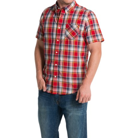 Timberland Allendale River Plaid Poplin Shirt Short Sleeve (For Men)