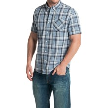 Timberland Allendale River Plaid Poplin Shirt - Short Sleeve (For Men) in Infinity - Closeouts