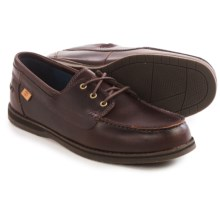 Timberland Alton Bay 3-Eye Boat Shoes - Leather (For Men) in Brown - Closeouts