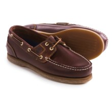 Timberland Amherst Boat Shoes - Leather (For Women) in Rootbeer - Closeouts