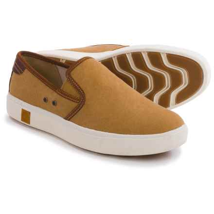 Timberland Amherst Shoes - Slip-Ons (For Men) in Brown Canvas - Closeouts