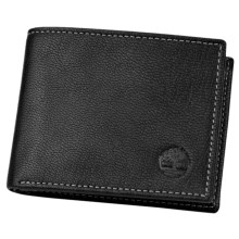 Timberland Antiqued Leather Slimfold Wallet in Black - Closeouts