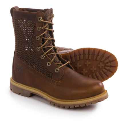 "Timberland Authentics Open Weave Boots - Nubuck, 6"" (For Women) in Brown - Closeouts"