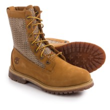 "Timberland Authentics Open Weave Boots - Nubuck, 6"" (For Women) in Wheat - Closeouts"