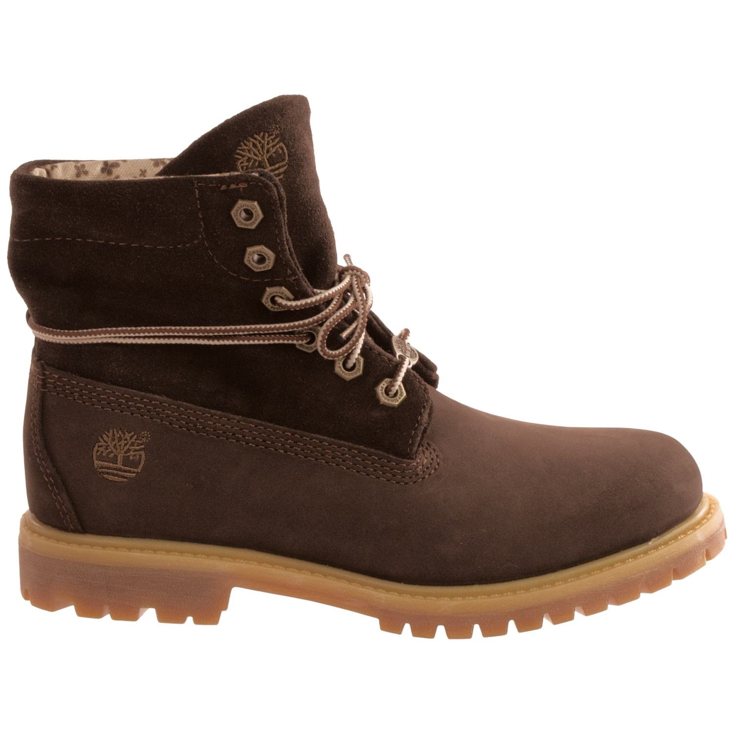 timberland s authentics suede roll top boots bye