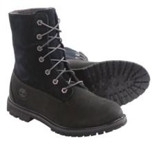 Timberland Authentics Teddy Fleece-Lined Boots - Waterproof (For Women) in Black Nubuck - 2nds