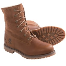 Timberland Authentics Teddy Fleece-Lined Boots - Waterproof (For Women) in Tobacco - 2nds