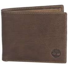 Timberland Banker Leather Bifold Wallet in Brown - Closeouts