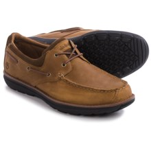 Timberland Barrett Park 2-Eye Boat Shoes - Leather (For Men) in Light Brown - Closeouts