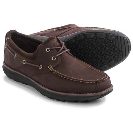 Timberland Barrett Park 2-Eye Boat Shoes - Leather (For Men) in Medium Brown - Closeouts