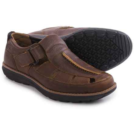 Timberland Barrett Park Fisherman Sandals - Leather (For Men) in Medium Brown - Closeouts