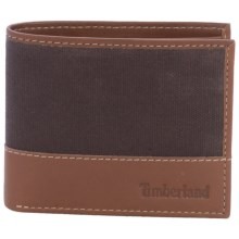 Timberland Baseline Canvas Wallet in Brown - Closeouts