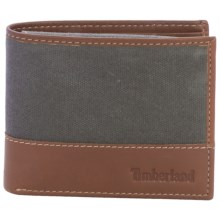 Timberland Baseline Canvas Wallet in Charcoal - Closeouts