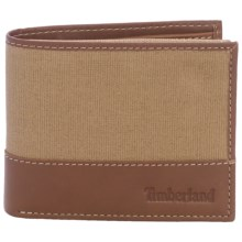 Timberland Baseline Canvas Wallet in Khaki - Closeouts