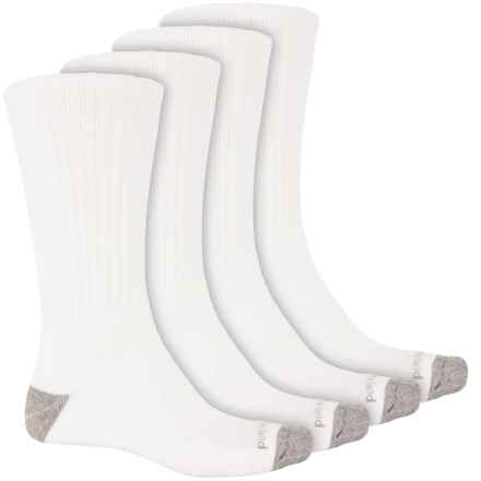 Timberland Basic Mid Socks - 4-Pack, Crew (For Men) in White - Closeouts