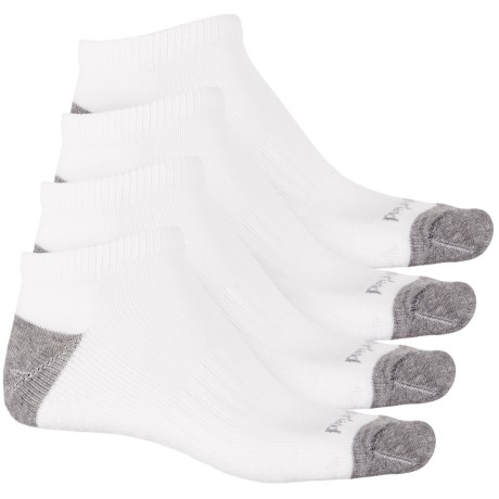 Timberland Basic No-Show Socks - 4-Pack, Below the Ankle (For Men) in White