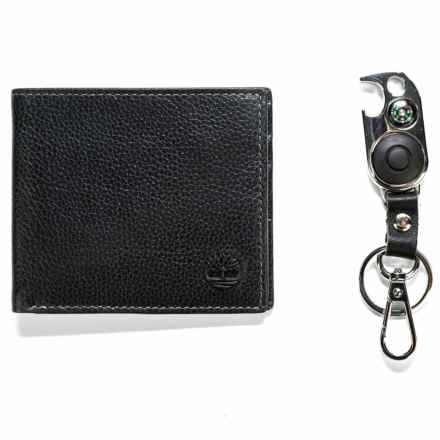 Timberland Billfold Wallet with Key Fob - Leather in Black - Closeouts