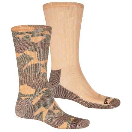 Timberland Blended Socks - 2-Pack, Crew (For Men) in Wheat Camo Print - Closeouts
