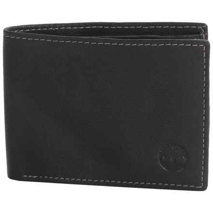 Timberland Blix Slimfold Leather Wallet in Black - Closeouts