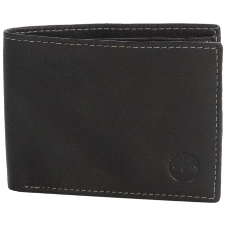 Timberland Blix Slimfold Leather Wallet in Brown