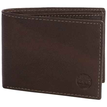 Timberland Blix Slimfold Leather Wallet in Brown - Closeouts