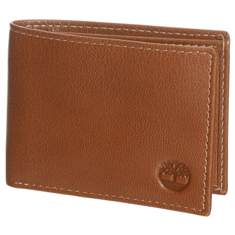 Timberland Blix Slimfold Leather Wallet in Tan