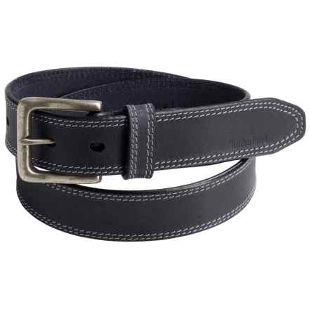 Timberland Boot Leather Belt (For Men) in Black - Closeouts