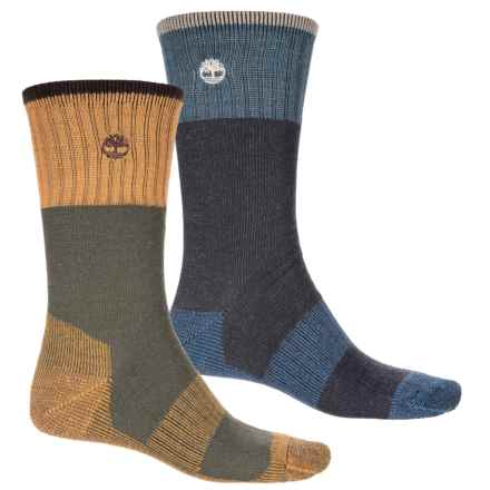 Timberland Boot Socks - 2-Pack, Crew (For Men) in Denim/Olive - Closeouts