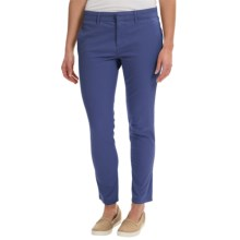 Timberland Broad Bay Chino Pants - Slim Fit (For Women) in Blue Print - Closeouts
