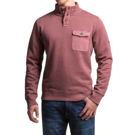 Timberland Browns River Sweatshirt - Cotton Blend, Button Neck (For Men) in Dark Port - Closeouts