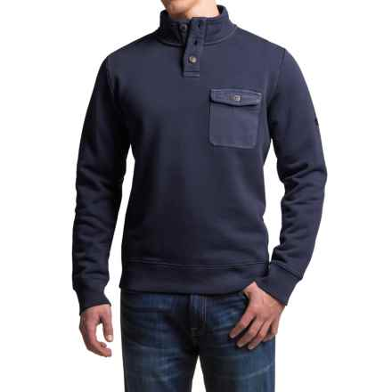 Timberland Browns River Sweatshirt - Cotton Blend, Button Neck (For Men) in Dark Sapphire - Closeouts