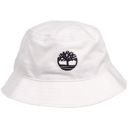 778a7b43a264d Timberland Bucket Hat with Tree Logo (For Men) in White - Closeouts