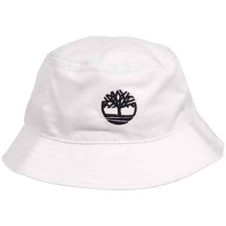 Timberland Bucket Hat with Tree Logo (For Men) in White - Closeouts