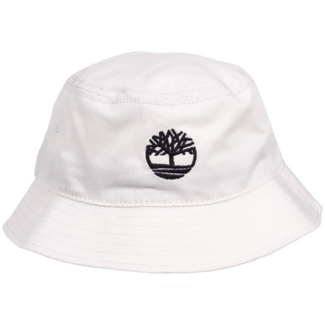 Timberland Bucket Hat with Tree Logo (For Men) in White